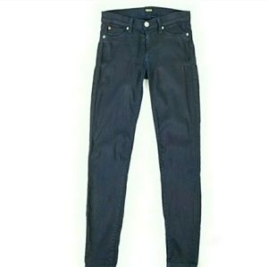 Hudson Womens 27 Krista Super Skinny Coated Jeans